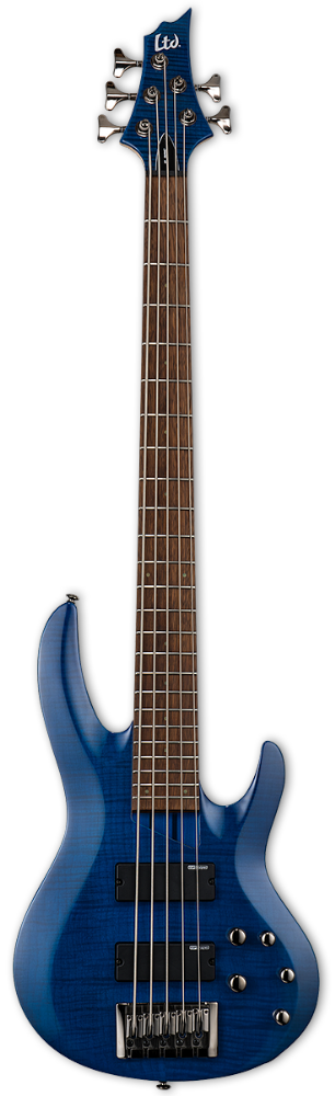ESP LTD B-205FM See Thru Blue